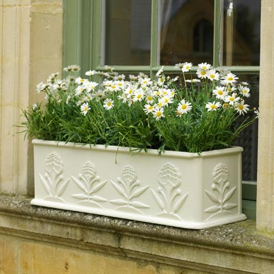 window box white