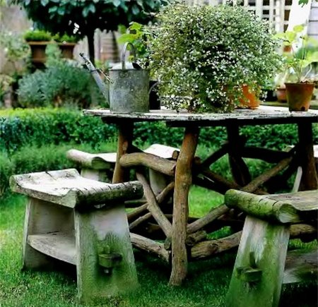 garden decorating with garden accents