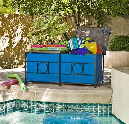 Pool Storage Ideas incredible black pool storage patio with dark spring green bamboo woven chair pool storage bins Storage Box Pool