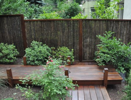 The short stay garden for Japanese decking garden
