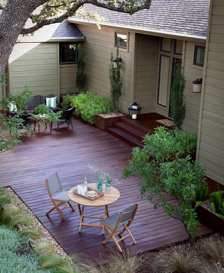 Decking design and suitable plants - Suitable materials for decking ...
