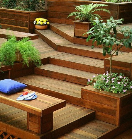 Decking Design And Suitable Plants